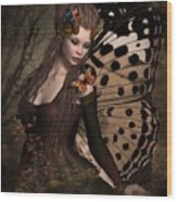 Butterfly Princess Of The Forest 2 Wood Print