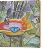 Butterfly Sanctuary At Niagara Falls Wood Print