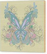 Butterfly Swirls Wood Print