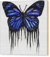 Butterfly Tears Wood Print