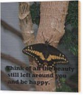 Butterfly Thing Of Beauty Wood Print
