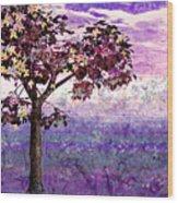 Butterfly Tree Wood Print