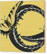 Butterfly Twist Wood Print