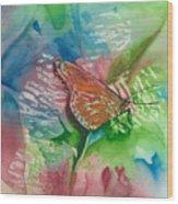 Butterfly W Print Wood Print