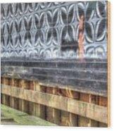 Butterfly Walled Graffiti Wood Print