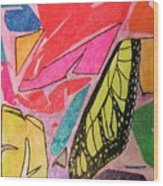 Butterfly Wing Wood Print