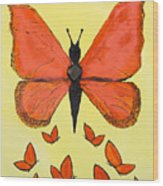 Butterfly Woman Wood Print
