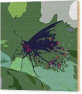 Butterfly Work Number Ten Wood Print