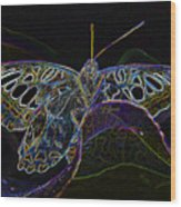Butterfly Work Rws Number 6 Wood Print