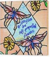 Butterflywhispers1 Wood Print