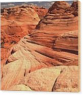 Buttes And Checkerboards Wood Print