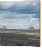 Buttes Wood Print