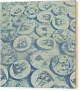 Button Seas Wood Print