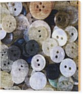 Buttons In Grunge Style Wood Print