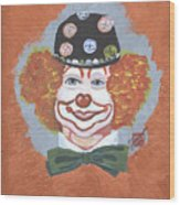 Buttons The Clown Wood Print