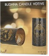 Buy Attractive Buddha Candle Votive From Rustik Craft  Wood Print