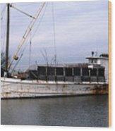 Buy Boat Nora W Wood Print