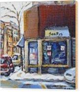 Buy Original Montreal Paintings Beauty's Winter Scenes For Sale Achetez Petits Formats Tableaux  Wood Print
