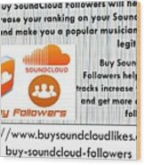 Buy Soundcloud Followers For Audience Attention- Buysoundcloudlikes Wood Print