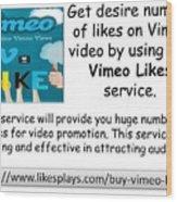 Buy Vimeo Likes Wood Print