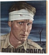 Buy War Bonds Wood Print