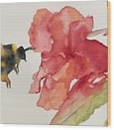 Buzz Bee Wood Print