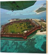 Buzzing The Dry Tortugas Wood Print