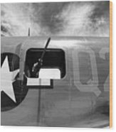 Bw Aircraft Gunner Window Wood Print