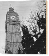 Bw Big Ben London 2 Wood Print