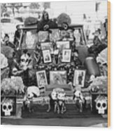 Bw Classic Car Trunk Decor Day Dead  Wood Print