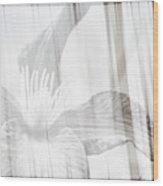 Bw Clematis Wood Print
