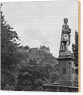Bw Edinburgh Scotland  Wood Print