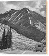 Bw Mobile Home Travel Alaska  Wood Print