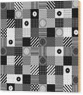 Bw Pop Pattern Wood Print