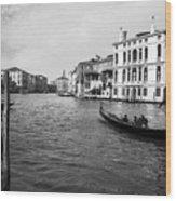 Bw Venice Wood Print