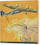 By Air To Ussr With The Soviet Union's Chief Cities - Vintage Poster Vintagelized Wood Print