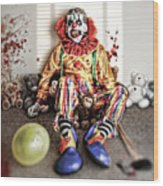 By Blood A King In Heart A Clown Wood Print