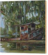 Bateau de Peche  Wood Print