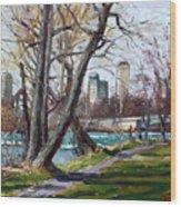By Niagara River Wood Print
