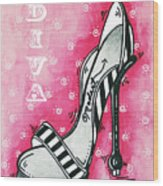By Pink Design By Madart Wood Print