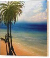 By The Beach Wood Print