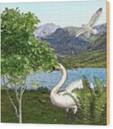 By The Lake 5 Wood Print