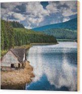 By The Lake Wood Print