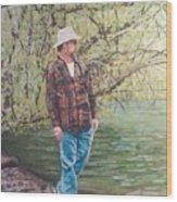 By The Lake - Self Portrait Wood Print