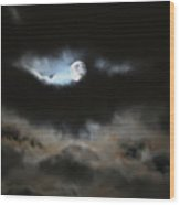 By The Light Of The Silvery Moon Wood Print