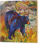 By The River - Black Bear Wood Print
