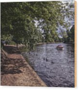 By The River Ouse Wood Print