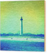 By The Sea - Cape May Lighthouse Wood Print