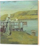 By The Sea Swanage Wood Print