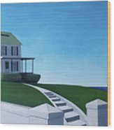 A House By The Sea Wood Print